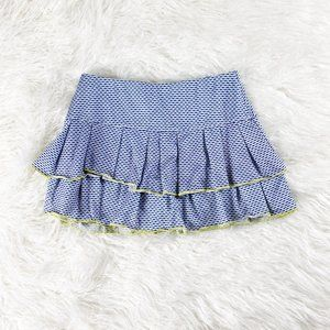 LUCKY IN LOVE Blue Pleated Tennis Skirt XS
